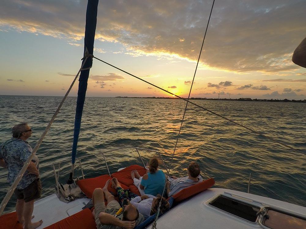 Sunset Sail on Ambergris Caye