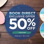 Book Direct and Save 50% in 2021!